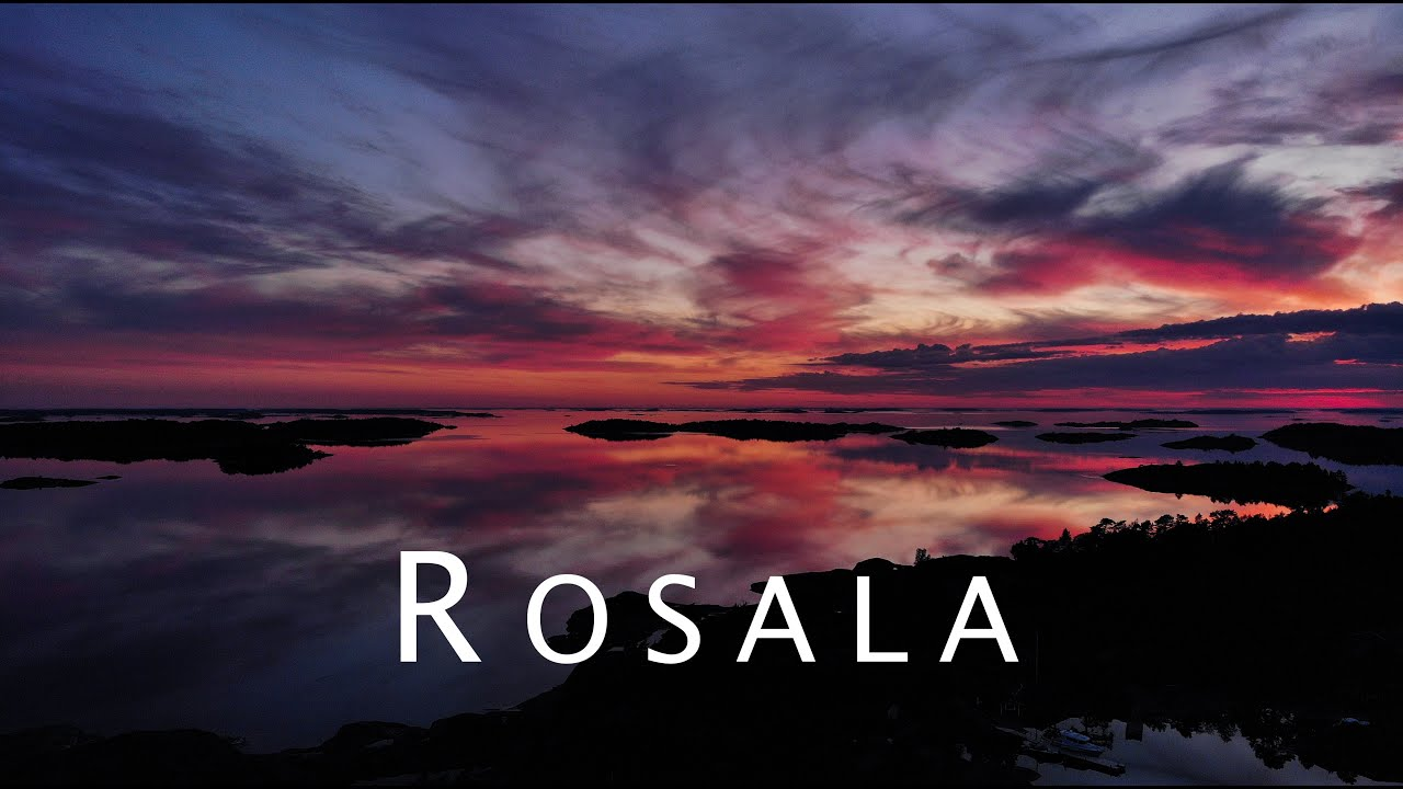 Download Mirror reflections at sunset in Rosala Archipelago, Finland.