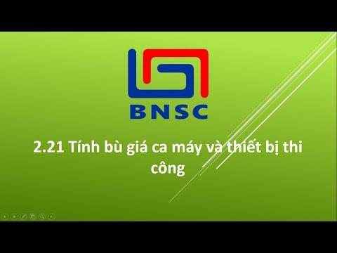 Hướng dẫn tính Bù giá ca máy - Dự toán BNSC