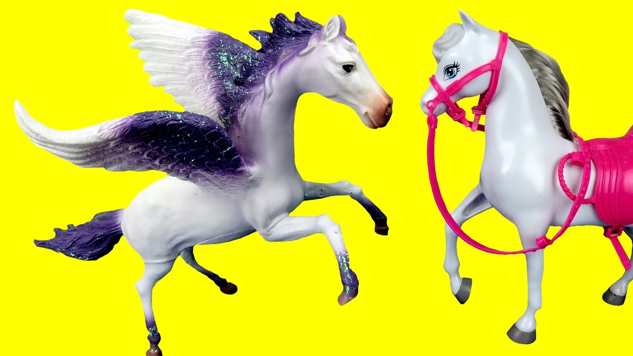 Flying Horse Unicorn Horse with Wings flying high to the sky