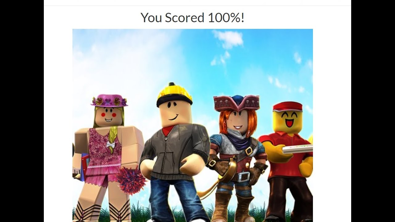 Completing The Ultimate Roblox Quiz Quiz Diva With A 100 Score