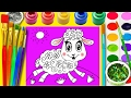 Draw Funny Animals Coloring Page | Learn Colors for Children