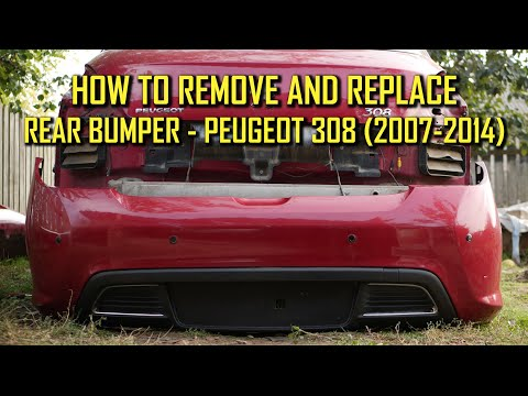 How to Remove and Replace Rear Bumper Peugeot 308 (2007-2014) T7 T8