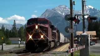 Train Crossing at Banff, Alberta
