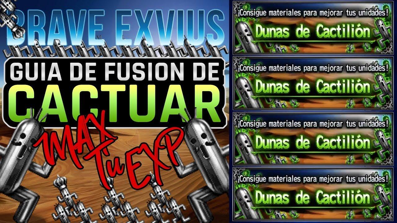 [FFBE] ⚔️ Final Fantasy Brave Exvius | Guía de Cactilion de Metal - Máximo EXP Mínimo de Cactuars (Spanish)
