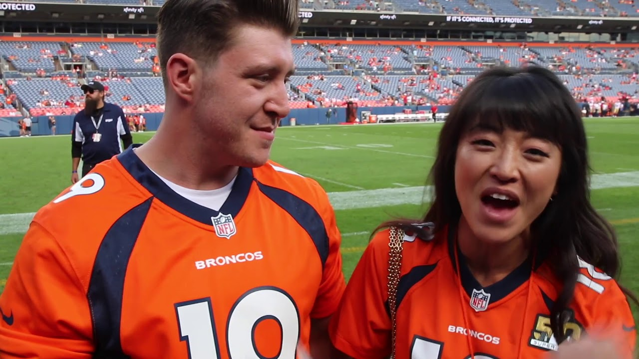 Matthew Dailey of 'Miss Saigon' sings Denver Broncos anthem