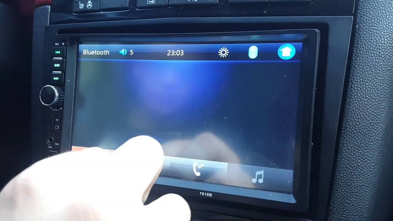 Double DIN 7018B Aux Usb Card Bluetooth TouchScreen 7 inch