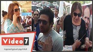 دلال عبد العزيز وسميحة أيوب وحسن الرداد يدلون بأصواتهم بانتخابات نقابة الممثلين