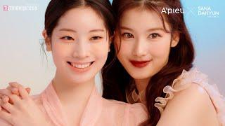 YouTube動画:TWICEサナ&ダヒョン、キュートな笑顔がいっぱい「A'pieu」日本初公開カット撮影メイキング