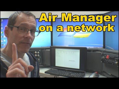 Flight Sim Instrument Panel: Air Manager on a Network