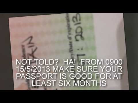 THE NEW GLOBAL PASSPORT VALIDITY LAW FOR AIR TRAVEL