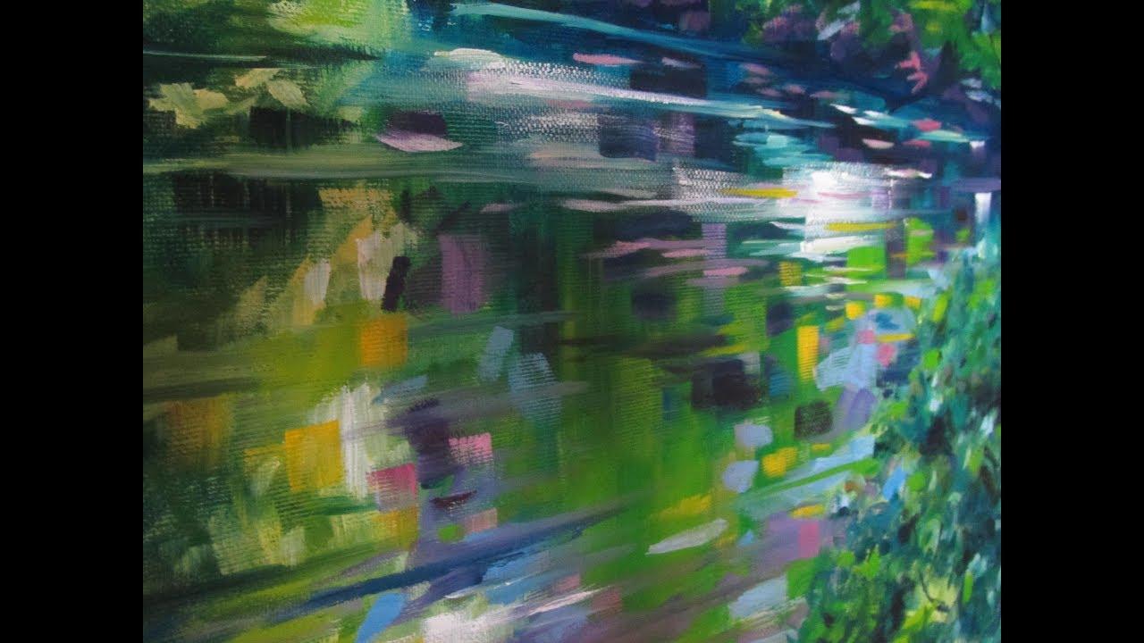 comment reprsenter en peinture les reflets dans leau