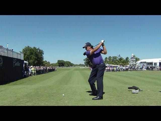 Phil Mickelson Slo Mo Swing Analysis At Cadillac Youtube