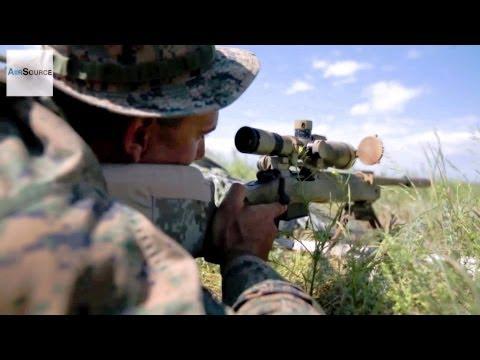 US, Macedonian, Romanian Marines Zero in Their Sniper Rifles
