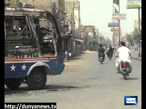 Dunya News-27-03-2012-Law & Order Situation in Karachi