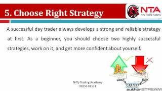 Day Trading Strategies India & Tips To Become Day Trader By Nifty Trading Academy India