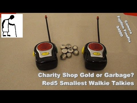 Charity Shop Gold or Garbage? Red5 Smallest Walkie Talkies