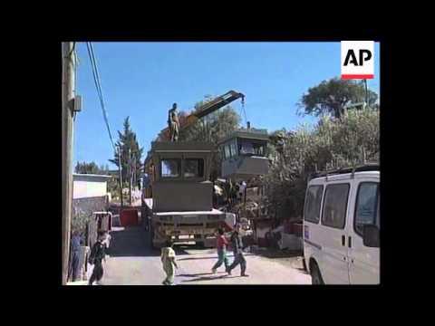 West Bank - Observation posts under construction