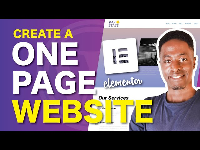 FREE ONE PAGE ELEMENTOR WEBSITE: How to Make a One Page WordPress website using Elementor