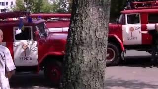 Харьков пожар в частном доме возле неотложки