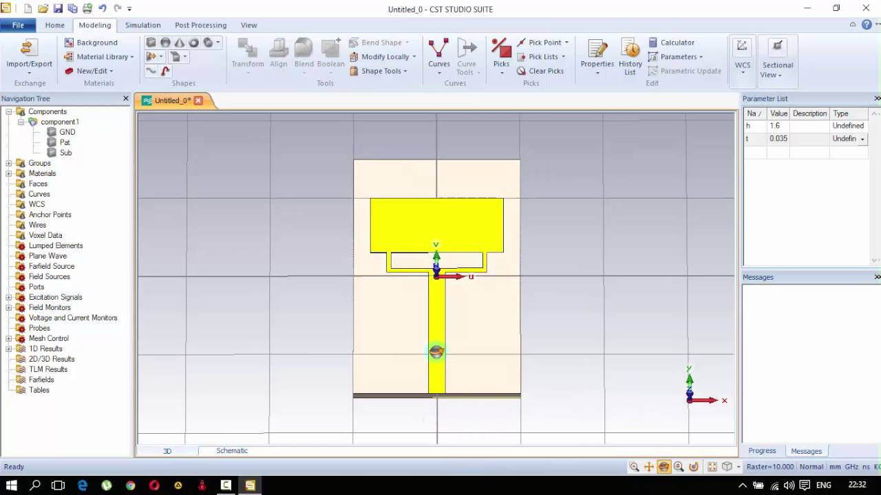 CST Studio Suite 2014 - Monopole Antenna Design + Simulation + Gain plot