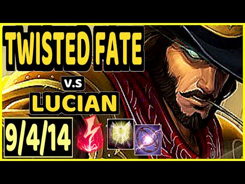 DOPA (APDO) (TWISTED FATE) vs LUCIAN - 9/4/14 KDA MID CHALLENGER GAMEPLAY - KR