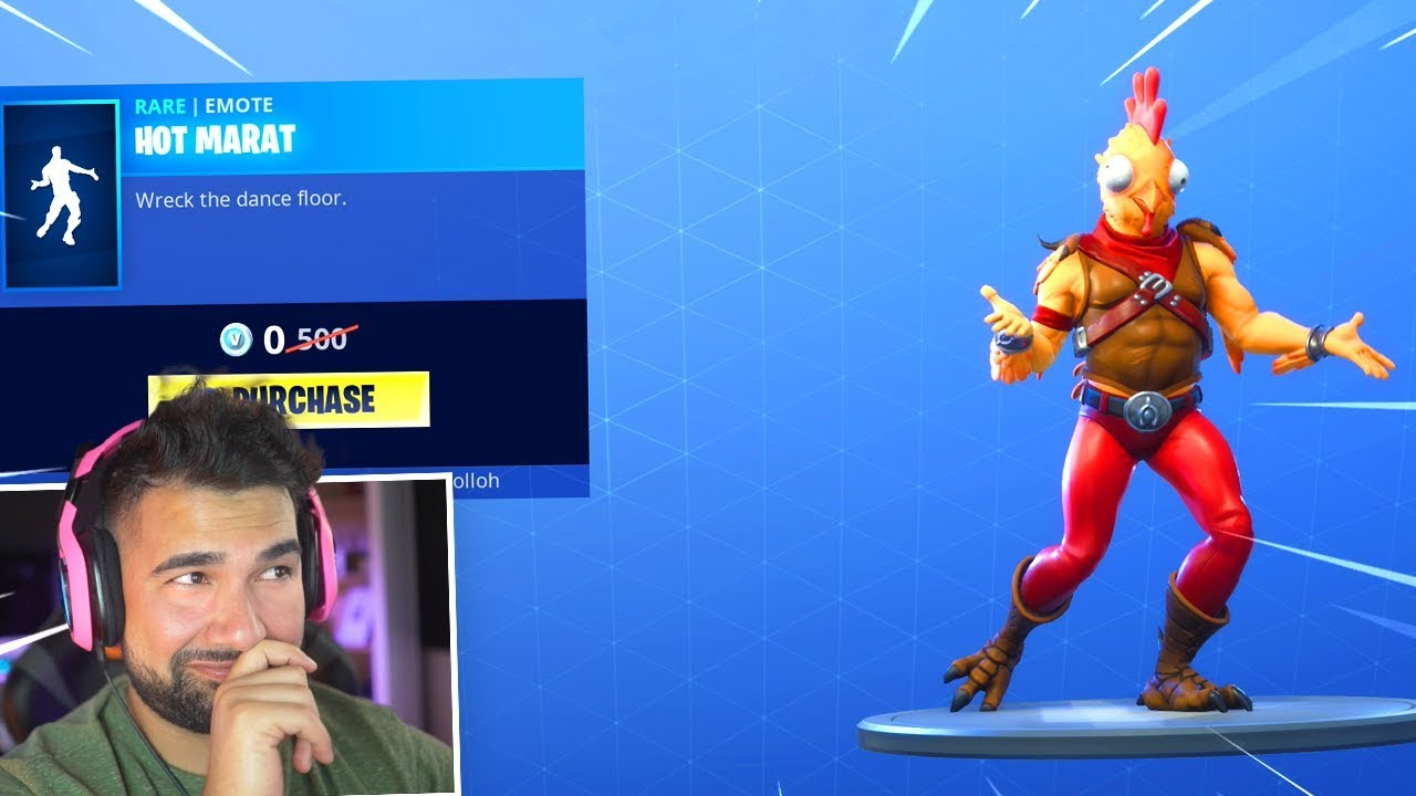 what was the first free emote fortnite