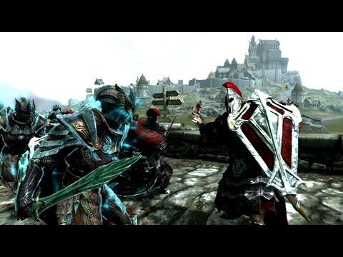 Skyrim Battles - 7/9 - The/All Skyrim Races Tournament-10 Imperials vs 10 Altmer[Legendary Settings]