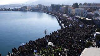 Manifestaciones en las islas griegas del Egeo Norte para protestar contra la llegada de migrantes
