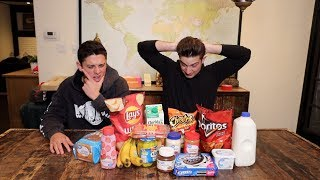 Eating Weird Food Combinations W/ Christian Seavey ( Taste Test )