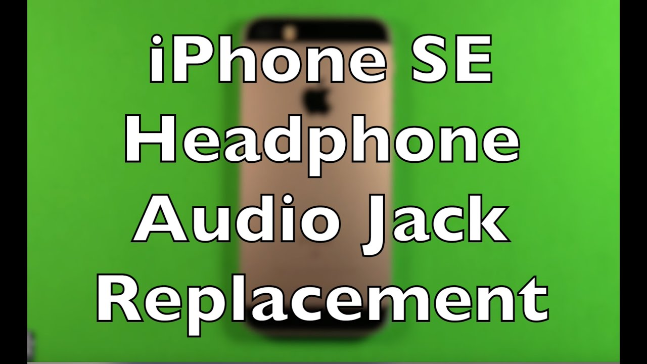 how to change speaker headphone jack