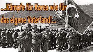 Türkische Soldaten im Koreakrieg. Als die türkische Armee Korea betrat.