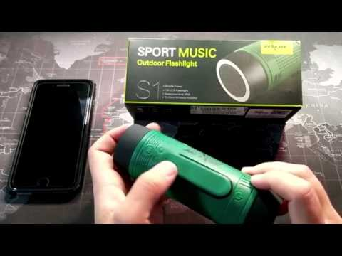 Bluetooth Speaker, Torch, Power Bank, Music Player