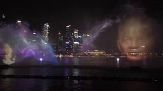 Ночной Сингапур. Три лучших световых шоу в одном видео