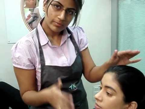 Watch student's Bridal Makeup session in LTA School of Beauty