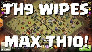 3 TH10s WIPED BY TH9 WITCH ATTACKS! MUST SEE! | CLASH OF CLANS