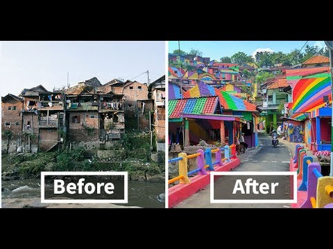 Rainbow Village Indonesian Government Invests $22,467 To Paint 232 Slum Houses