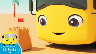 Buster Builds Sandcastles Song | Go Buster! | Bus Cartoons for Kids! | Funny Videos & Songs