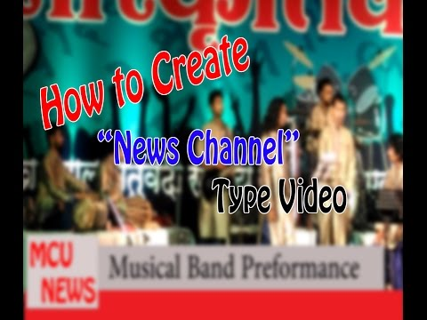 How to Create News Channel Type Video Using Adobe Premier