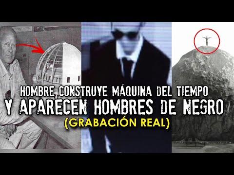 Hombre muestra máquina del tiempo y desaparece por HOMBRES DE NEGRO (Grabación Real)