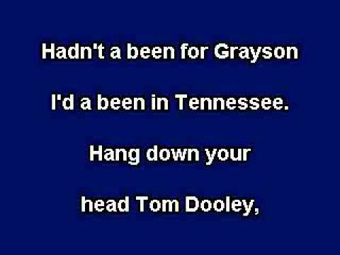 Tom Dooley, Karaoke video with lyrics, with demo singer