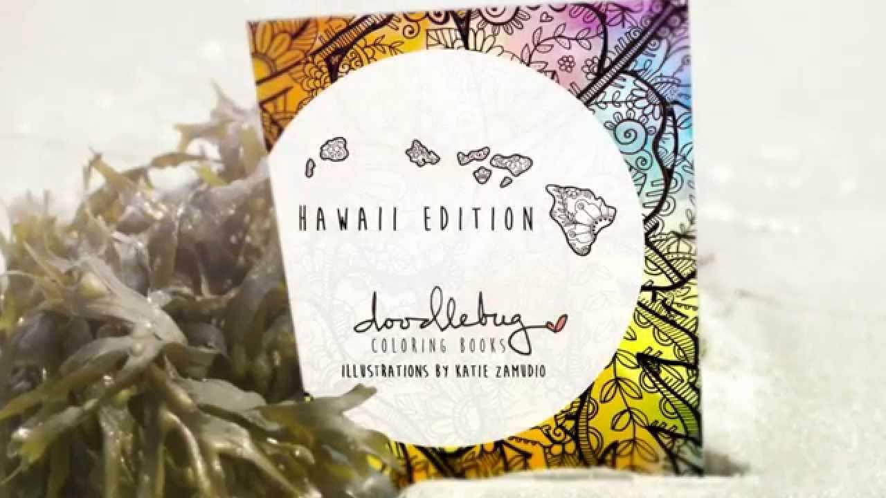 Doodlebug Coloring Books Hawaii Edition