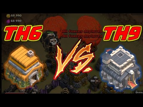 Clash of Clans - Town Hall 6 V's Town Hall 9 GRUDGE MATCH!