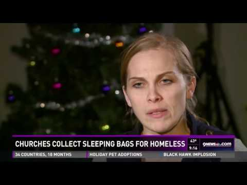 Churches collect sleeping bags for homeless   9news com