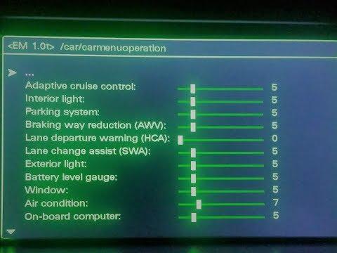Volkswagen Touareg RNS 850 green menu | Waooz com
