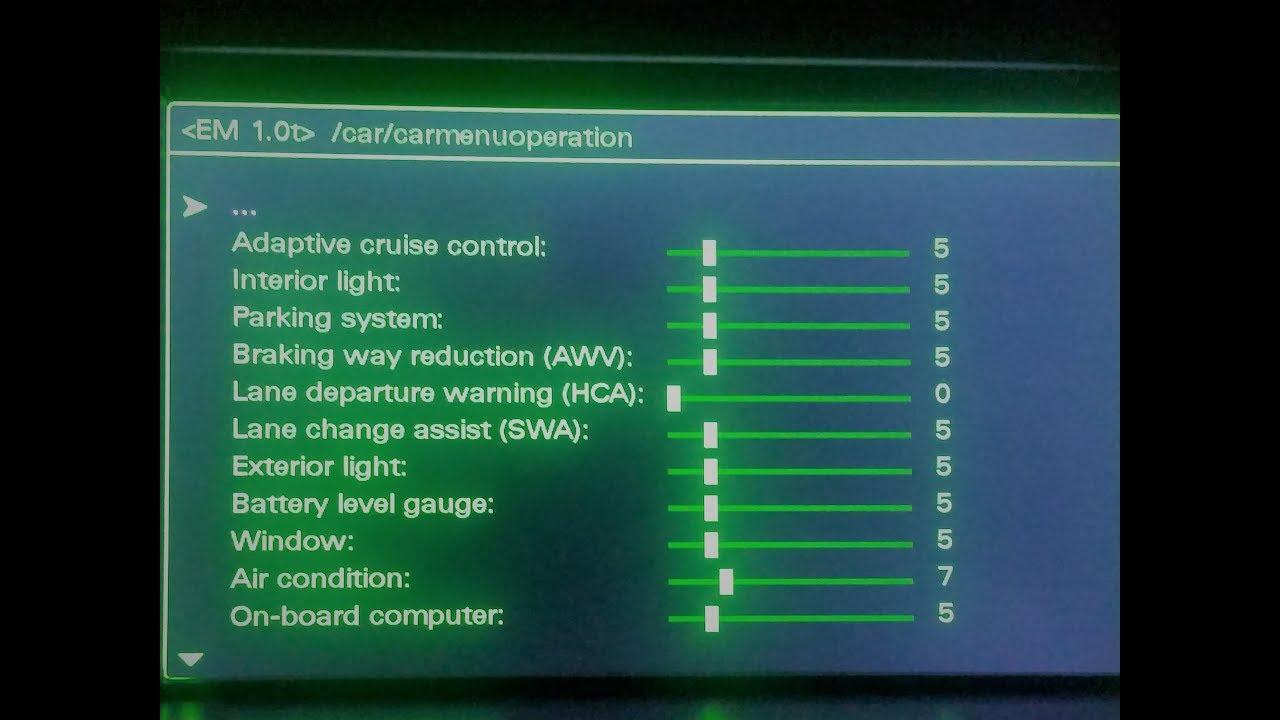 Audi MMI 3g + Nav Hidden Green Menu - YouTube