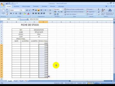 Gestion De Stock Excel Youtube