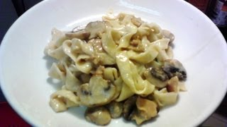 Clam Sauce - Fresh Fettuccine And Mushrooms - Poormansgourmet