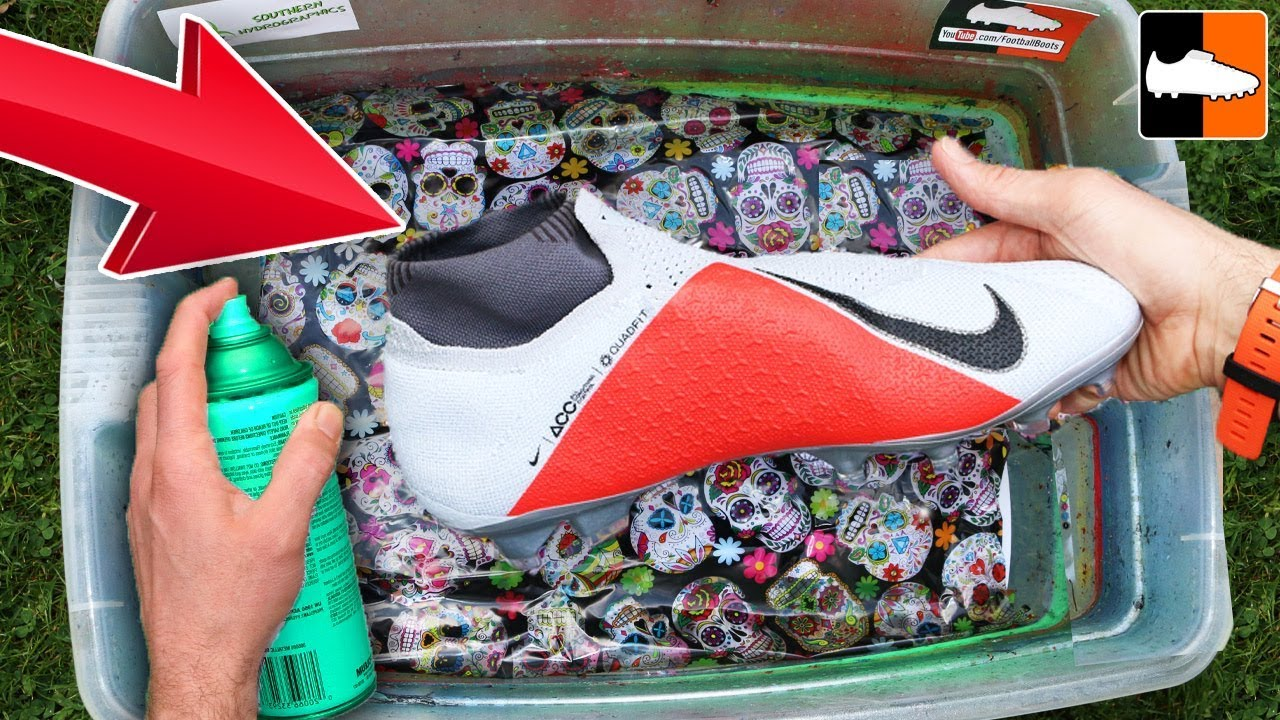 89678df5e47c How To Hydro Dip For Football! 💀🎃 Stunning Custom Boots! - YouTube