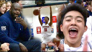 SHAQ watches Shareef O'Neal & YUUKI Come Up CLUTCH In Front Of Sold OUT CROWD!!