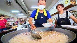 Squid Noodles - Street Food in Taiwan   INCREDIBLE Taiwanese Street Food tour in Tainan, Taiwan